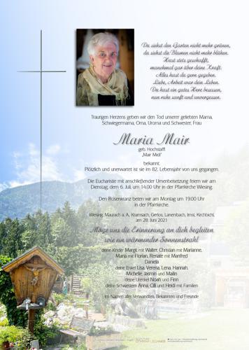 Parte von Maria Mair