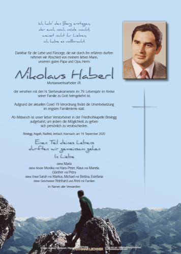 Parte von Nikolaus Haberl