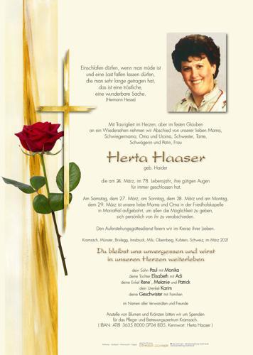 Parte von Herta Haaser