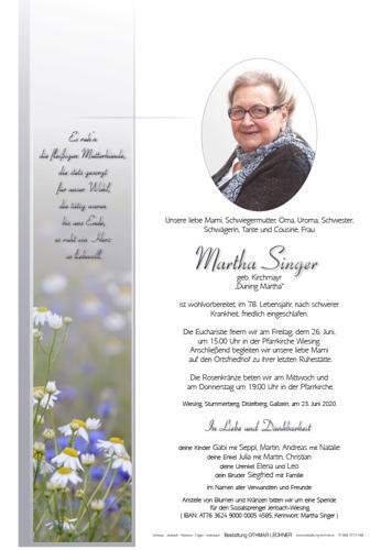 Parte von Martha Singer