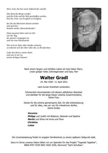 Parte von Walter Gradl