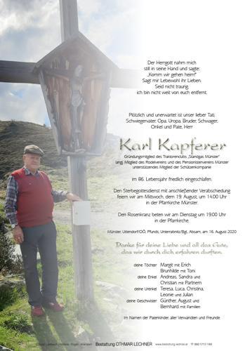 Parte von Karl Kapferer