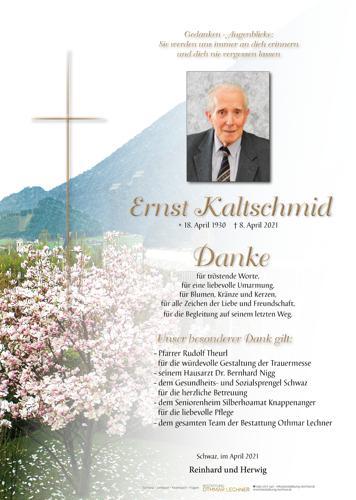 Parte von Ernst Kaltschmid