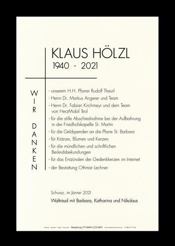 Parte von Josef Nikolaus Hölzl