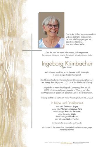 Parte von Ingeborg Krimbacher
