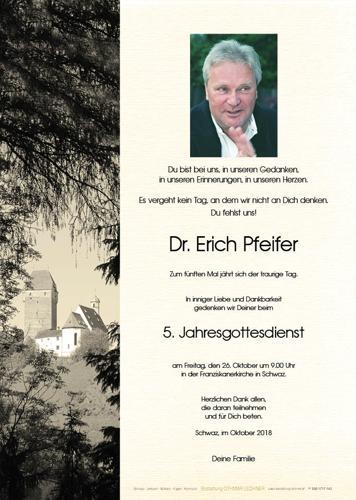 Parte von Pfeifer Erich Dr.jur.