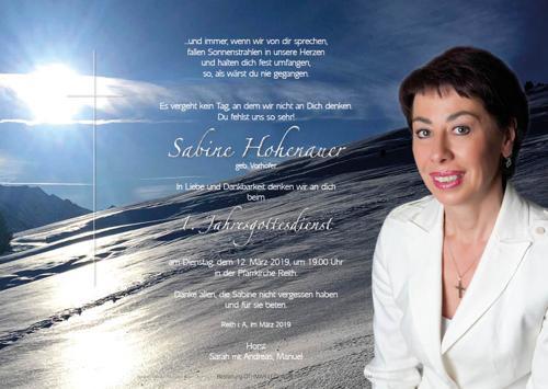 Parte von Sabine Hohenauer