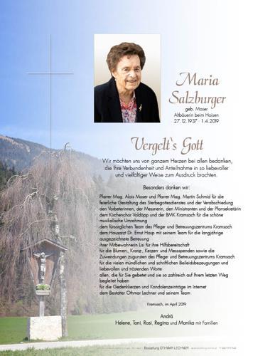 Parte von Maria Salzburger