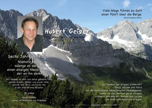 Parte von Hubert Geiger