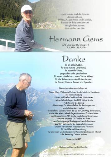 Parte von Hermann Gems