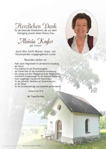 Parte von Aloisia Kogler