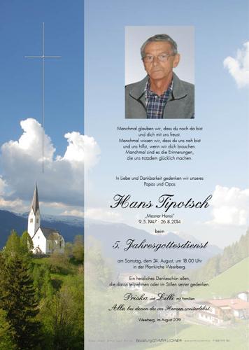 Parte von Hans Tipotsch