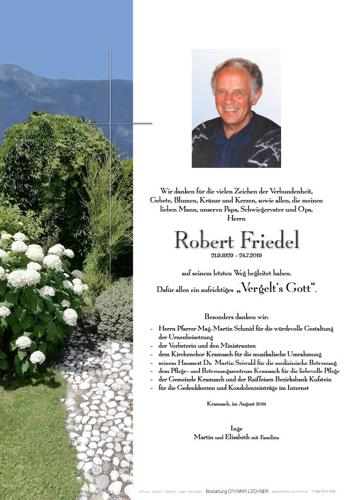 Parte von Robert Friedel