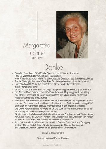 Parte von Margarethe Luchner