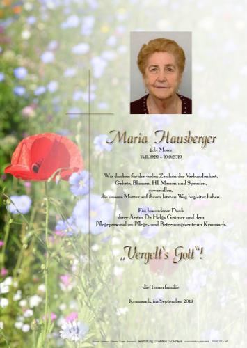 Parte von Maria Hausberger