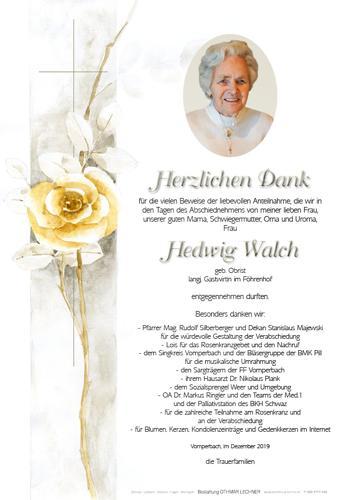 Parte von Hedwig Walch