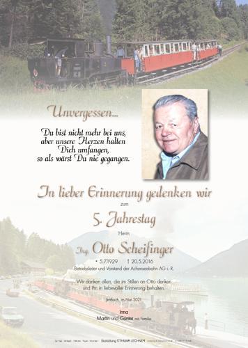 Parte von Scheifinger Otto Ing.