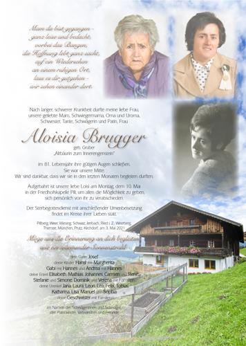 Parte von Aloisia Brugger