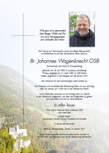 Parte von Br. Johannes Wagenknecht OSB