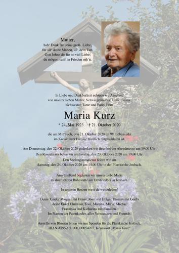 Parte von Maria Kurz