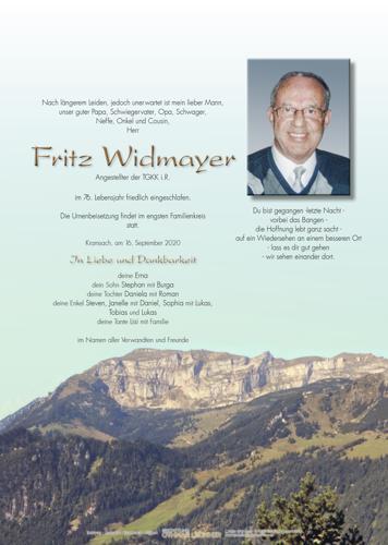 Parte von Fritz Widmayer