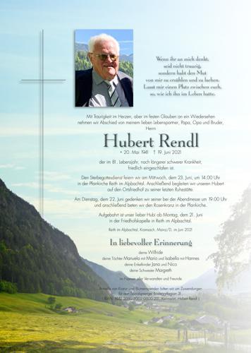 Parte von Hubert Rendl