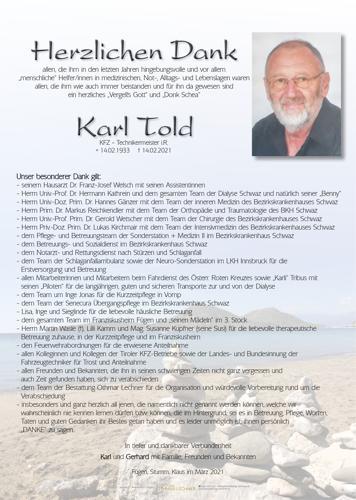 Parte von Karl Told
