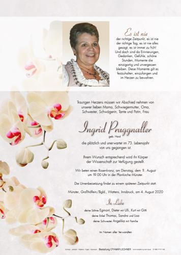 Parte von Ingrid Pruggnaller