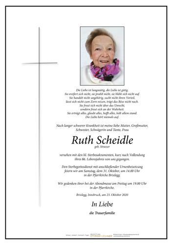 Parte von Ruth Scheidle