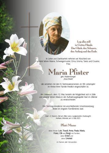 Parte von Maria Pfister