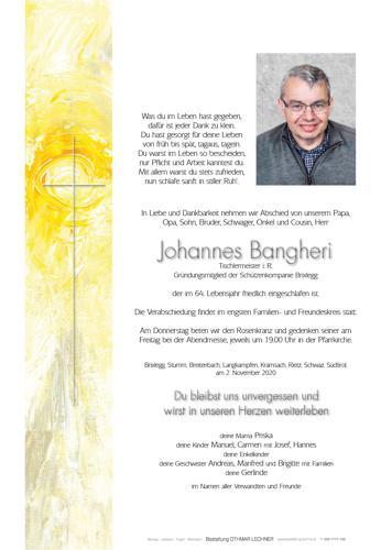 Parte von Johannes Bangheri