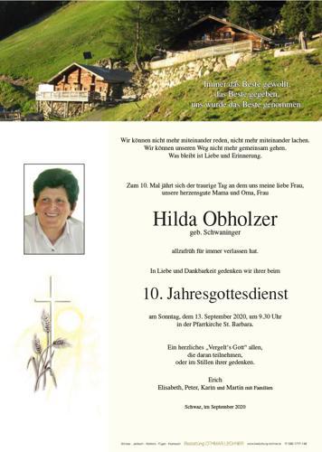 Parte von Hilda Obholzer