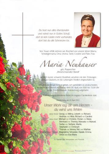 Parte von Maria Neuhauser