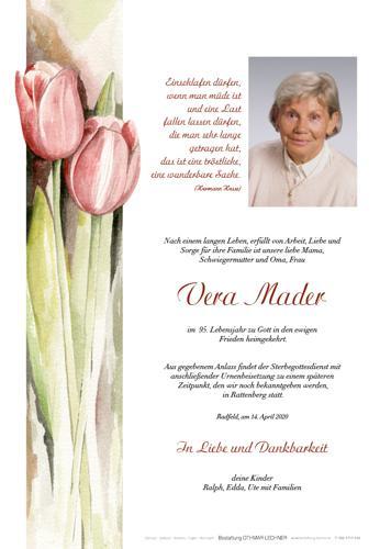 Parte von Vera Mader