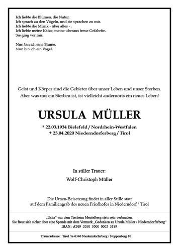 Parte von Ursula Müller