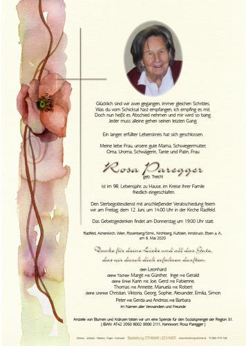 Parte von Rosa Paregger