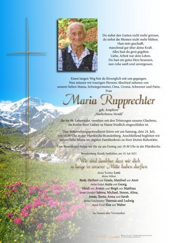 Parte von Maria Rupprechter