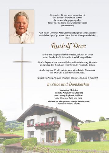 Parte von Rudolf Dax