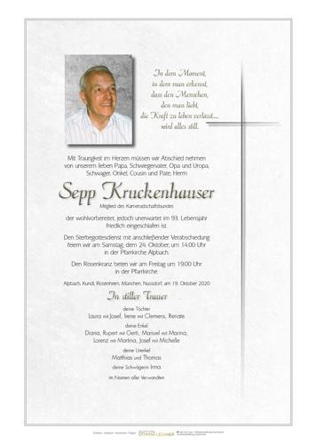 Parte von Josef Kruckenhauser