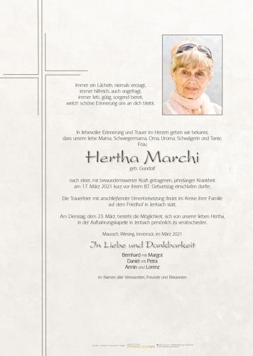 Parte von Hertha Marchi
