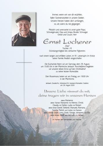 Parte von Ernst Locherer