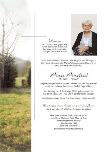 Parte von Ana Andric