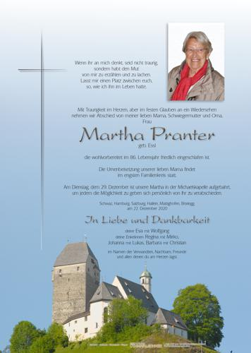 Parte von Martha Pranter