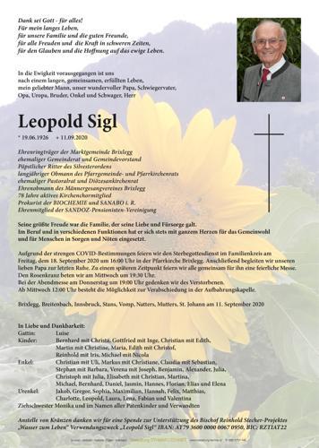 Parte von Leopold Sigl