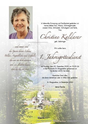 Parte von Christine Kaldarar
